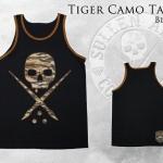Футболка Tiger Camo Tank Black - Sullen