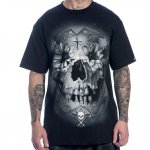 Футболка Flower Skull Black - Sullen