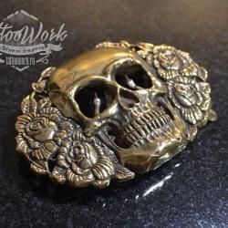 Пряжка Skull Rose