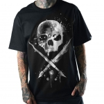 Футболка SPLATTER BADGE TEE BLACK - Sullen