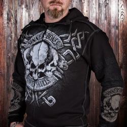Толстовка с капюшоном Painted Skulls - Sinners