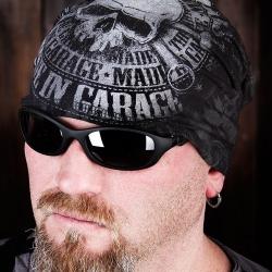"""Шапка черная """"MADE in GARAGE"""" - Sinner"""