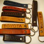 брелок для ключей из кожи